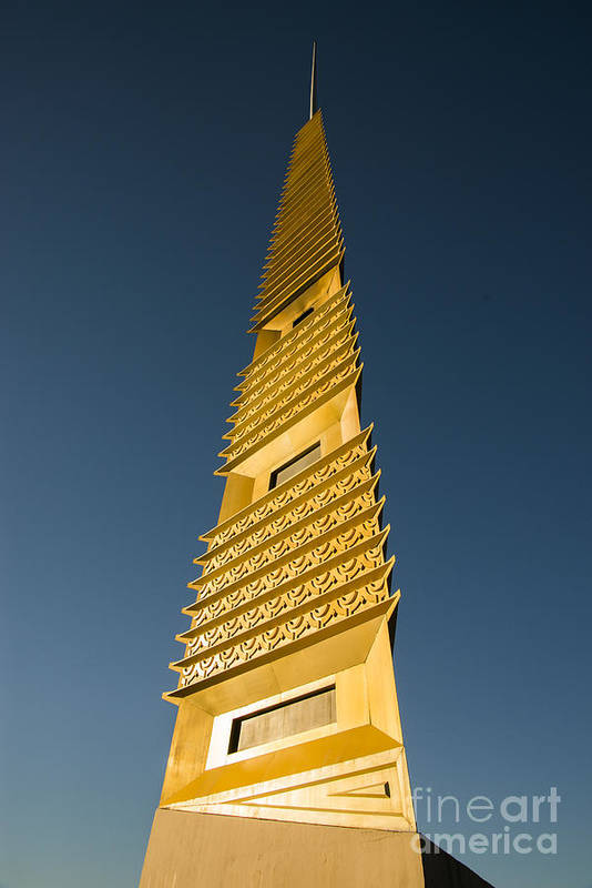 Marin County Art Print featuring the photograph Marin County Civic Center Tower by David Bearden