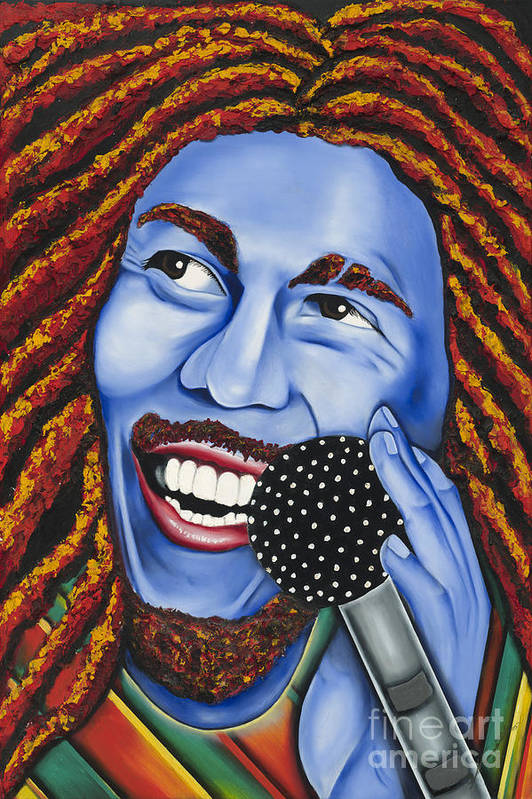 Portrait Art Print featuring the painting Marley by Nannette Harris
