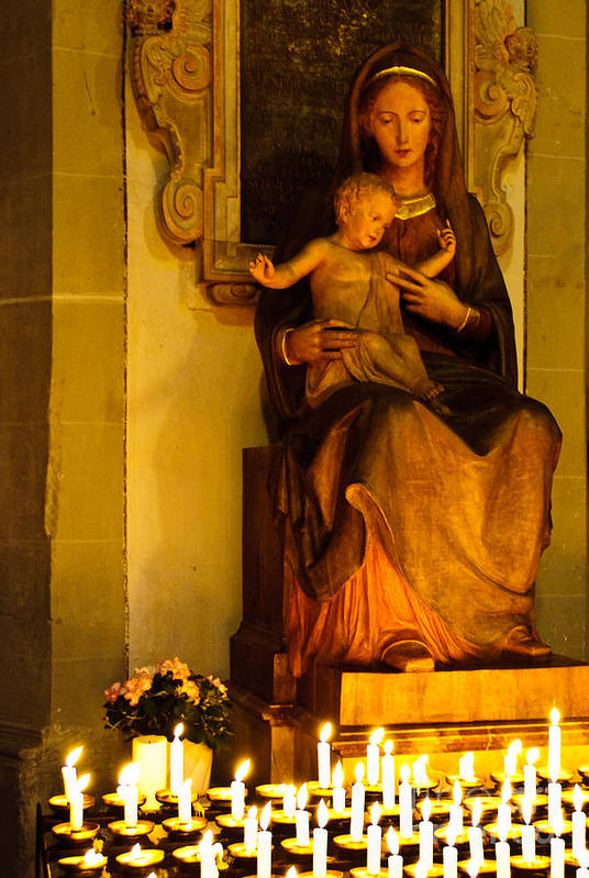 Mary And Baby Jesus Art Print featuring the photograph Mary And Baby Jesus by Syed Aqueel
