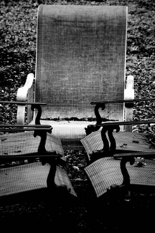Chair Art Print featuring the photograph Meeting Adjourned by David Weeks