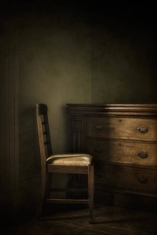 Chair Print featuring the photograph Memories by Amy Weiss