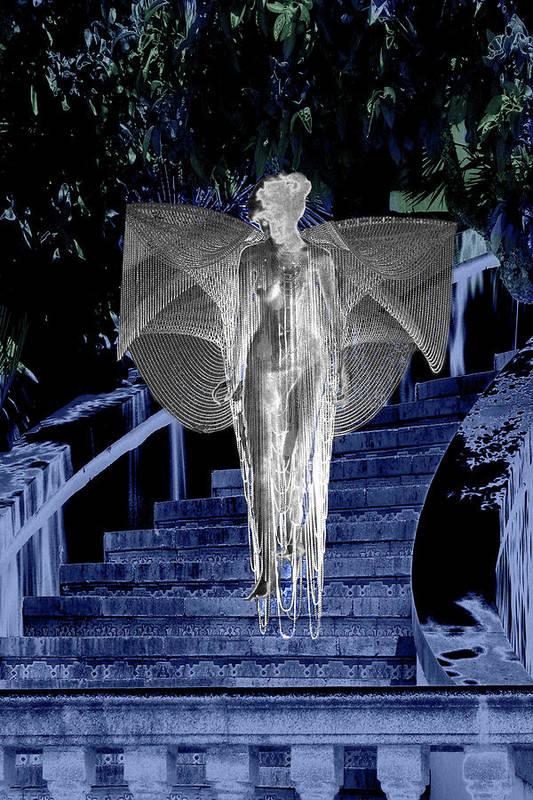 Midnight Art Print featuring the digital art Midnight Garden by Lisa Yount