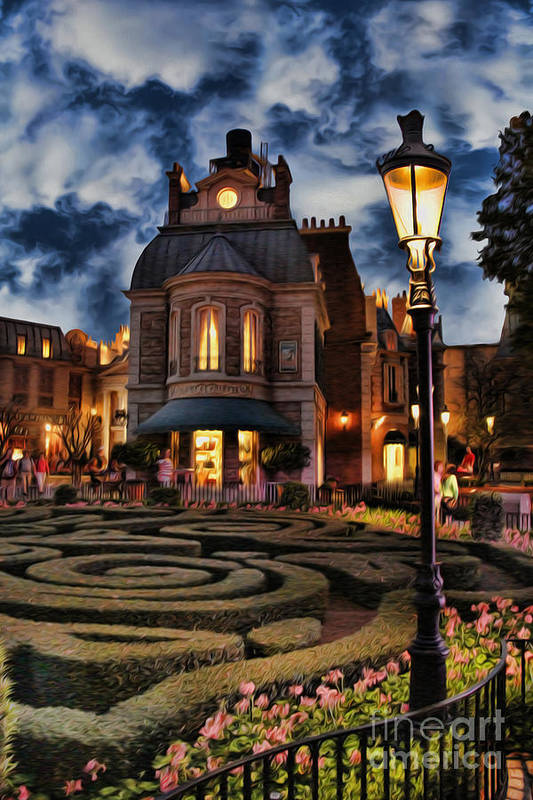 Soft Glow Art Print featuring the photograph Midnight In The Labyrinth Garden by Lee Dos Santos