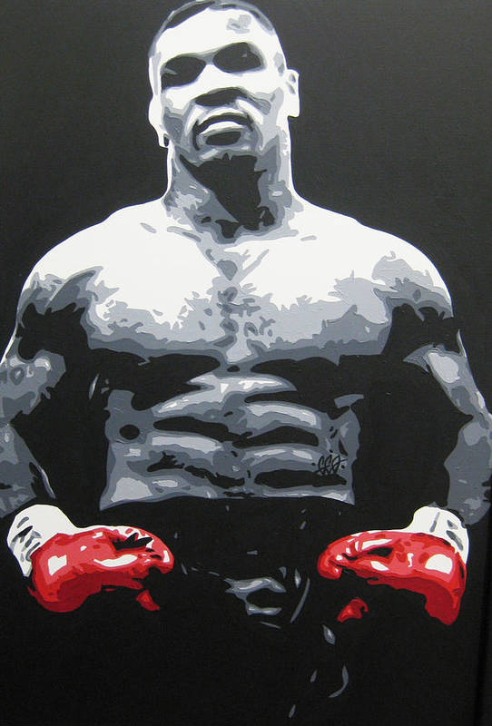 Mike Tyson Art Print featuring the painting Mike Tyson 10 by Geo Thomson