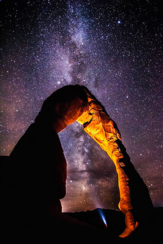 Arches National Park Art Print featuring the photograph Milky Way Explorer by Darren White