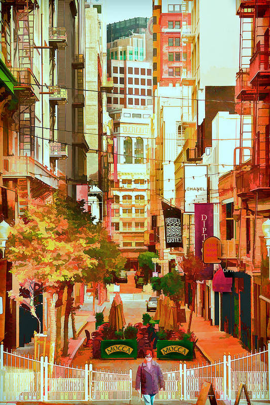 Maiden Lane Art Print featuring the photograph Mocca On Maiden Lane by Bill Gallagher