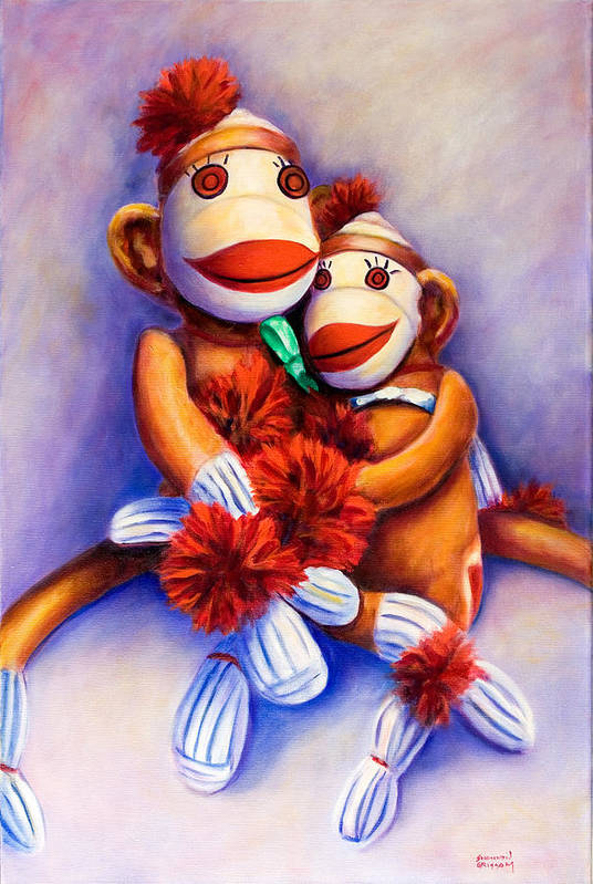Children Art Print featuring the painting Mother And Child by Shannon Grissom