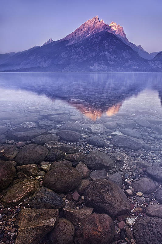 Mountain Art Print featuring the photograph Mountain Lake by Andrew Soundarajan