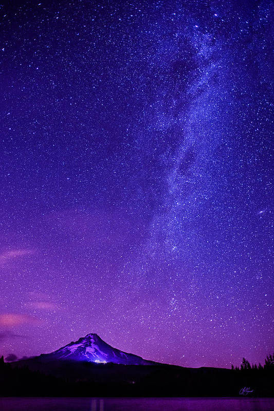 Milky Way Art Print featuring the photograph Mt. Hood Milky Way 01 by Lori Grimmett