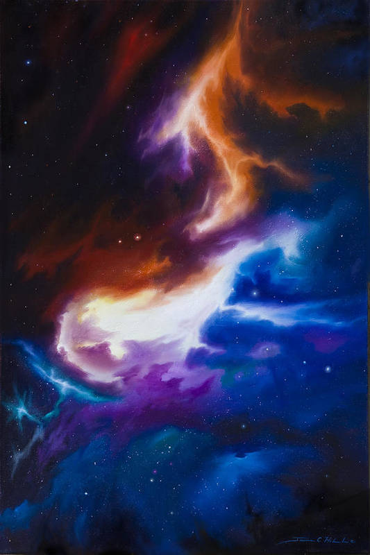 James C. Hill Art Print featuring the painting Mutara Nebula by James Christopher Hill