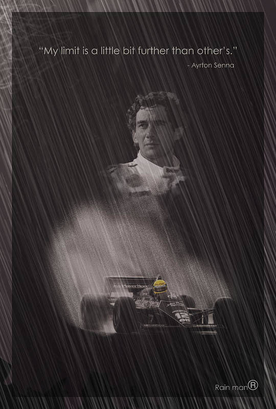 Ayrton Print featuring the digital art My Limit Is A Little Bit Further Than Others by Stephane Trahan