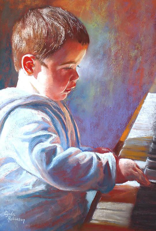 Lynda Robinson Art Print featuring the painting My Little Mozart by Lynda Robinson