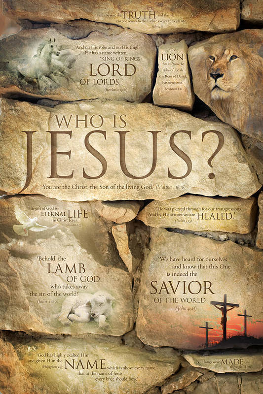 Names Of Jesus Christ - Inspirational Christian Art Poster Art Print ...
