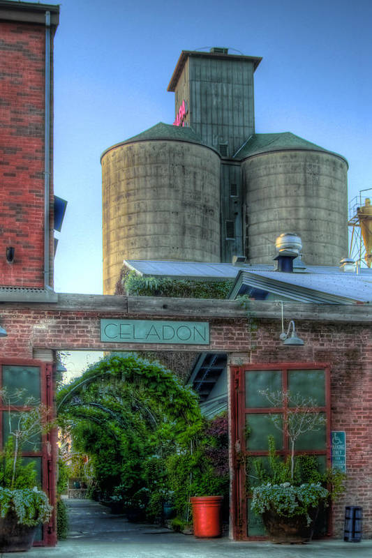Napa. Napa Mill Print featuring the photograph Napa Mill by Bill Gallagher