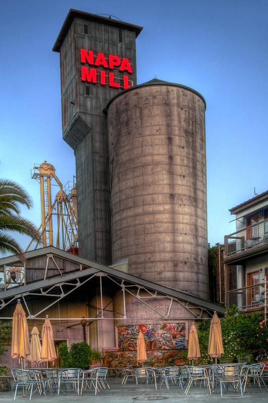 Mill Print featuring the photograph Napa Mill II by Bill Gallagher
