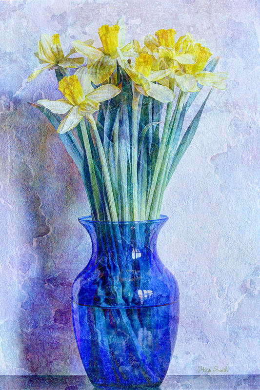 Blue Art Print featuring the photograph Narcissus by Heidi Smith