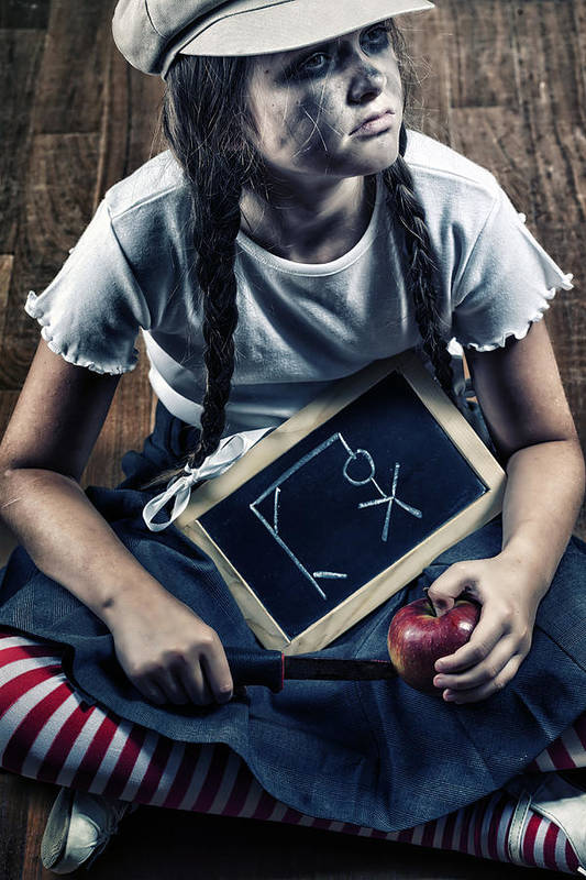 Girl Art Print featuring the photograph Naughty School Girl by Joana Kruse
