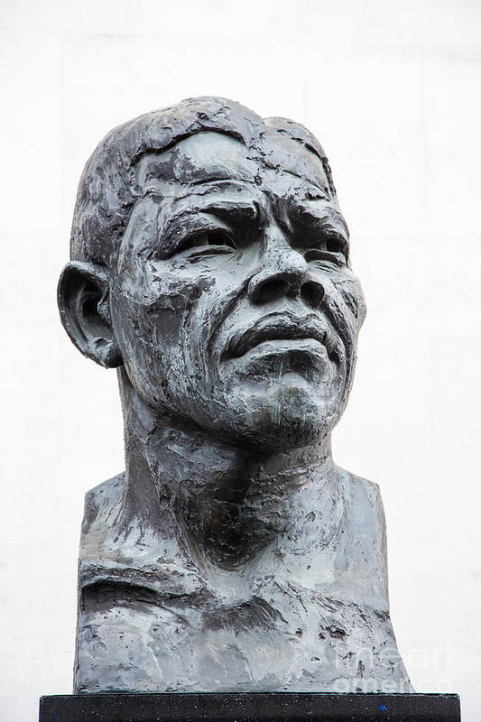 Africa Art Print featuring the photograph Nelson Mandela Statue by Jane Rix