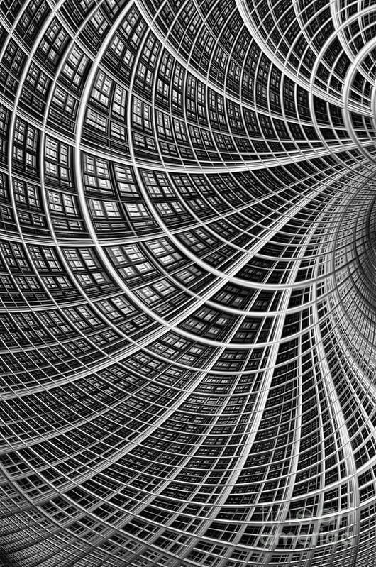Mesh Print featuring the digital art Network II by John Edwards