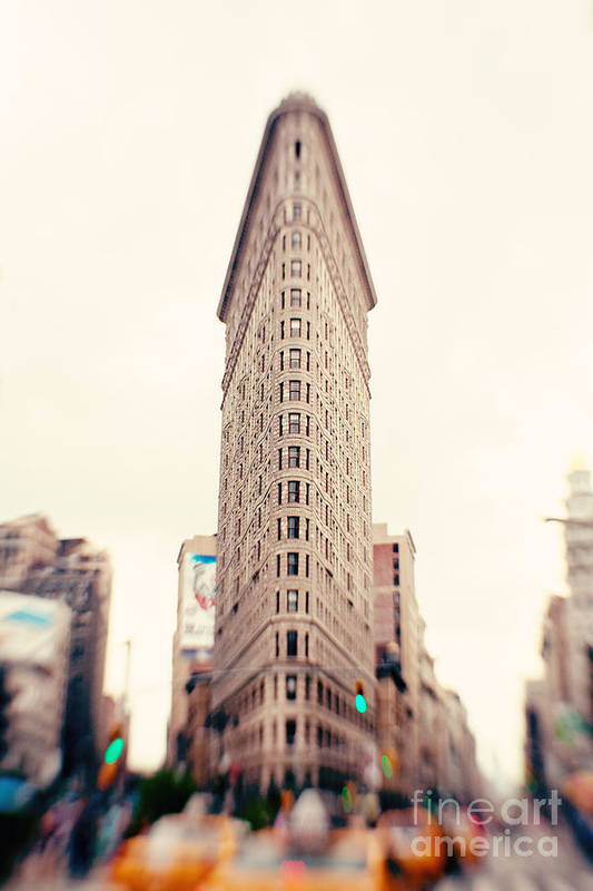 New York City Photo Art Print featuring the photograph New York City Flatiron Building by Kim Fearheiley
