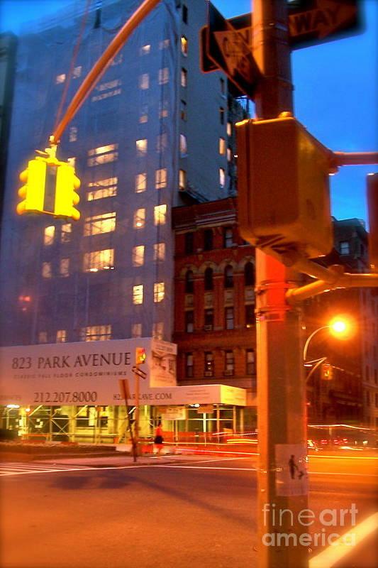 New York Art Print featuring the digital art New York Night by Corey Garcia