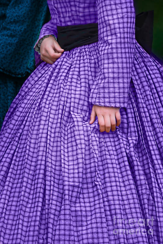 Purple Art Print featuring the photograph Ninetenth Century Woman In Purple by Stephanie Frey