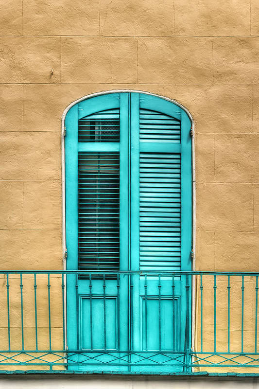 Door Art Print featuring the photograph Nola Balcony by Brenda Bryant
