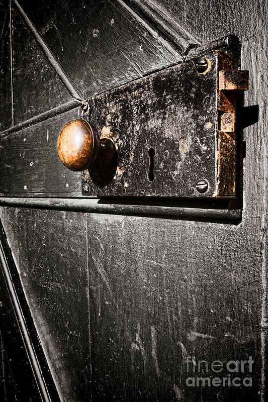 Door Lock Print featuring the photograph Old Door Lock by Olivier Le Queinec