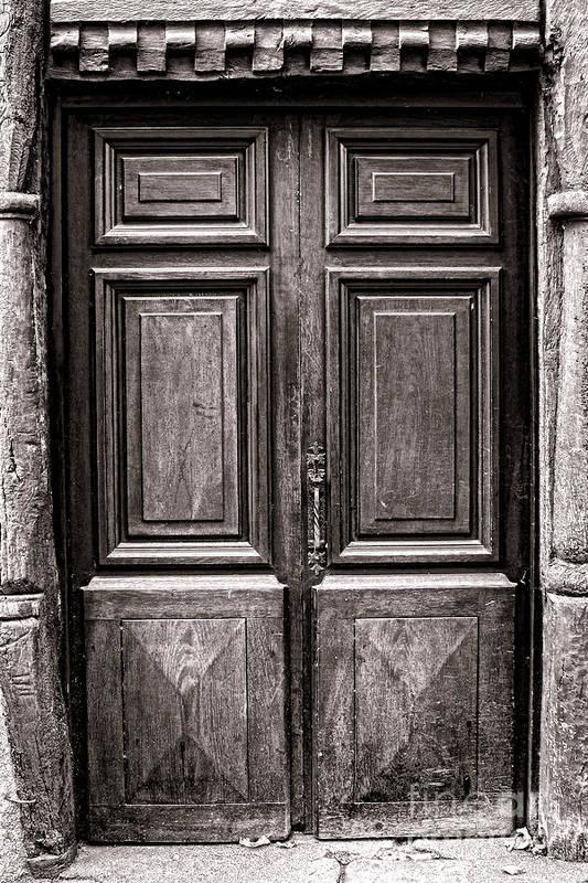 Door Art Print featuring the photograph Old Door by Olivier Le Queinec