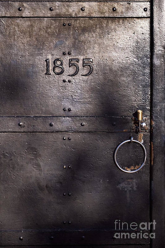 Old Metal Door Print featuring the photograph Old Lighthouse Door by Eyzen Medina