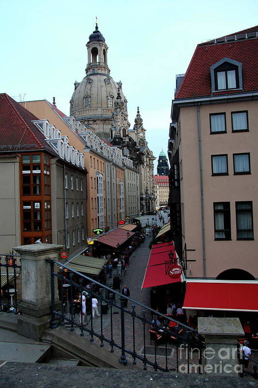 Alley Art Print featuring the photograph Old Town Dresden by Christiane Schulze Art And Photography