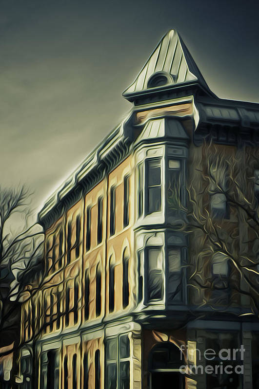 Old Town Art Print featuring the photograph Old Town Fort Collins by Julieanna D
