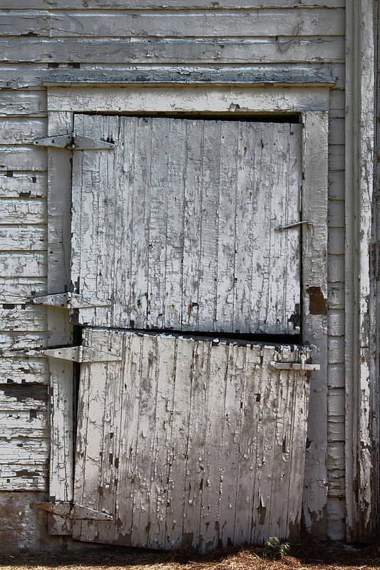 Barn Art Print featuring the photograph Ole Barn Door by Lynn Sprowl