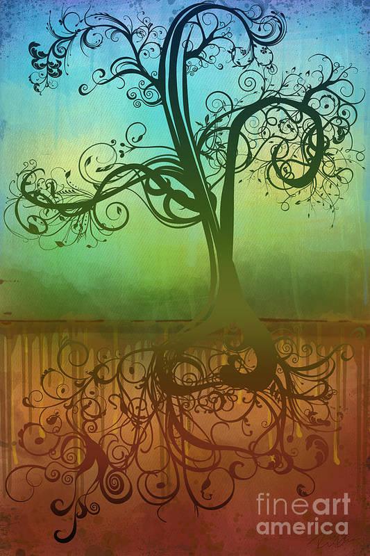 Tree Art Print featuring the digital art Omid by Ryan Burton