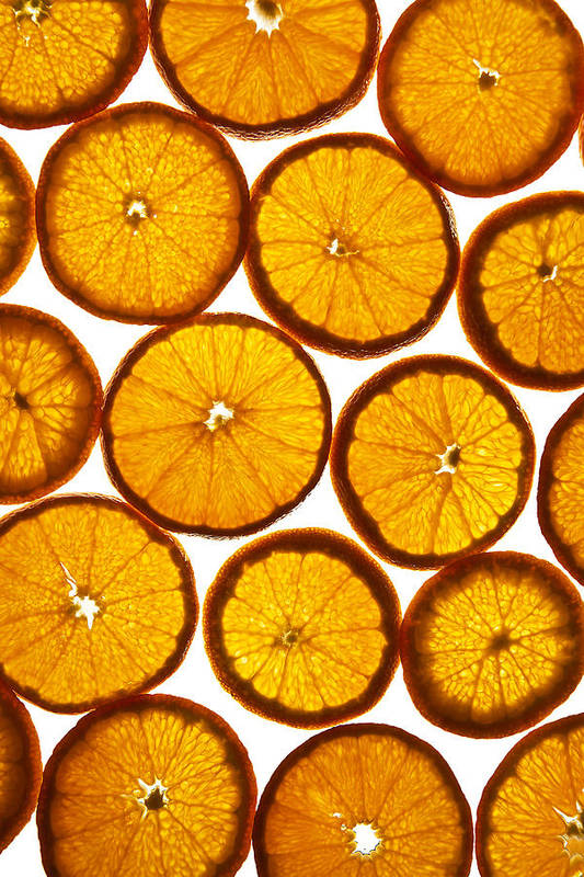 Background Art Print featuring the photograph Orange Fresh by Vitaliy Gladkiy