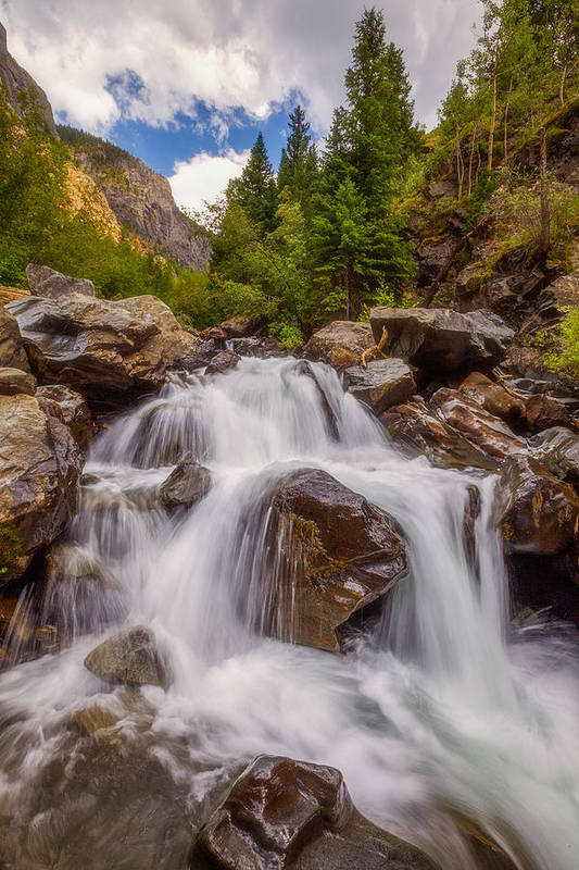 Waterfall Art Print featuring the photograph Ouray Wilderness by Darren White