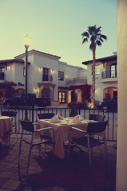 La Quinta Art Print featuring the photograph Outside Dining by Laurie Search