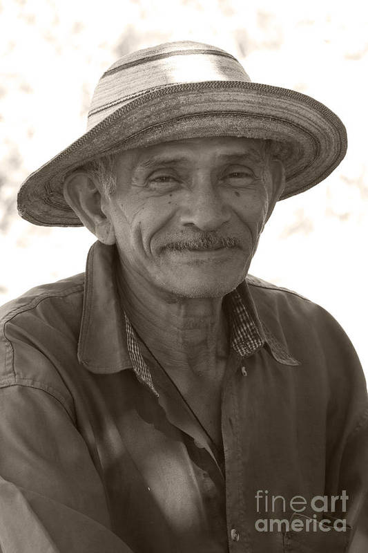 Heiko Print featuring the photograph Panamanian Country Man by Heiko Koehrer-Wagner