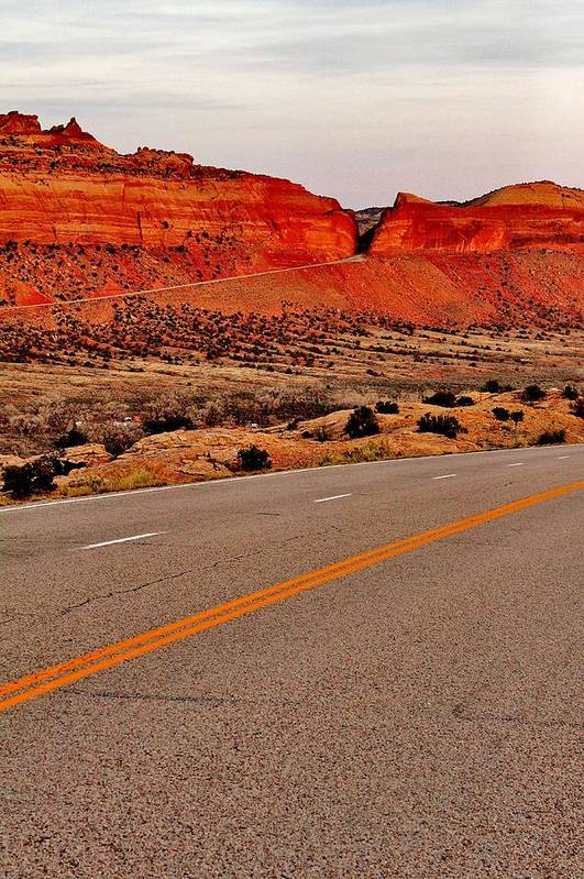 Highway Art Print featuring the photograph Parallel Lines by Benjamin Yeager