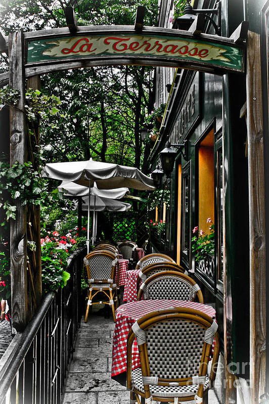 Paris Cafe Art Print featuring the photograph Paris Cafe by Robert Wise