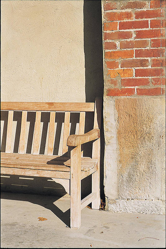 Art Print featuring the photograph Park Bench by Robert Rosati
