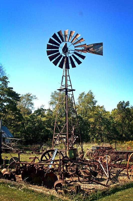 Windmill Art Print featuring the photograph Patterson Windmill by Marty Koch