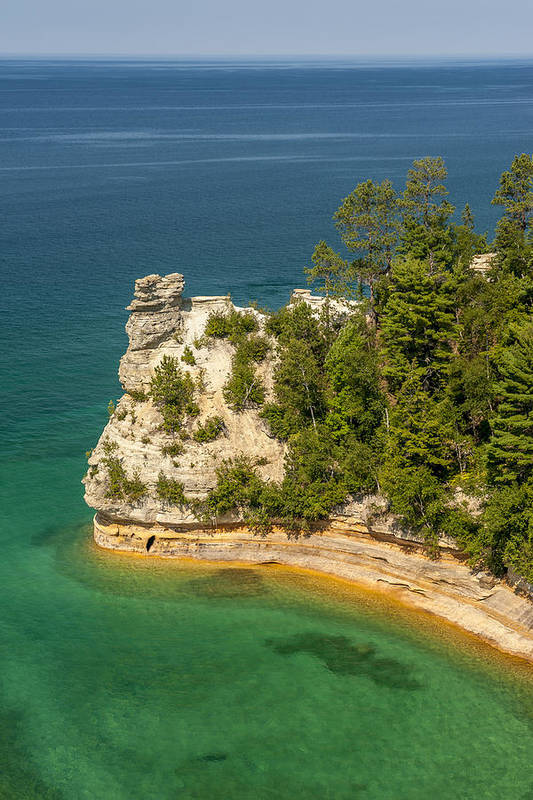 Pictured Rocks National Lakeshore Art Print featuring the photograph Pictured Rocks National Lakeshore by Sebastian Musial