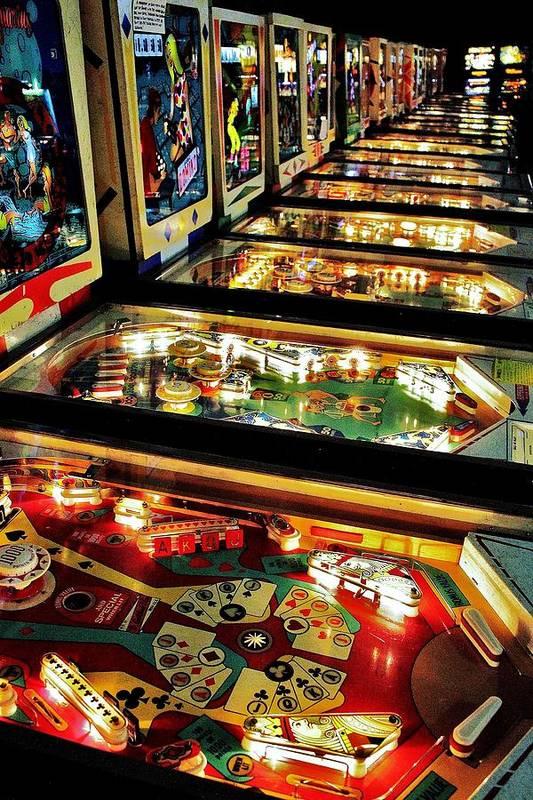 Pinball Art Print featuring the photograph Pinball Arcade by Benjamin Yeager