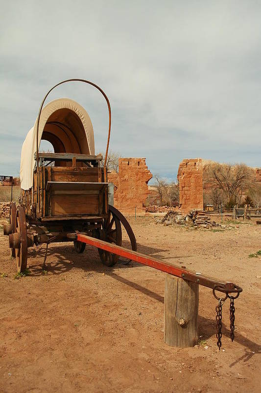 Utah Art Print featuring the photograph Pionner Wagon by Jeff Swan