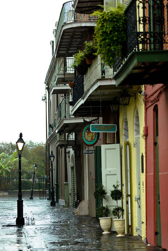 New Orleans Art Print featuring the photograph Pirates Alley In The Rain by Susie Hoffpauir
