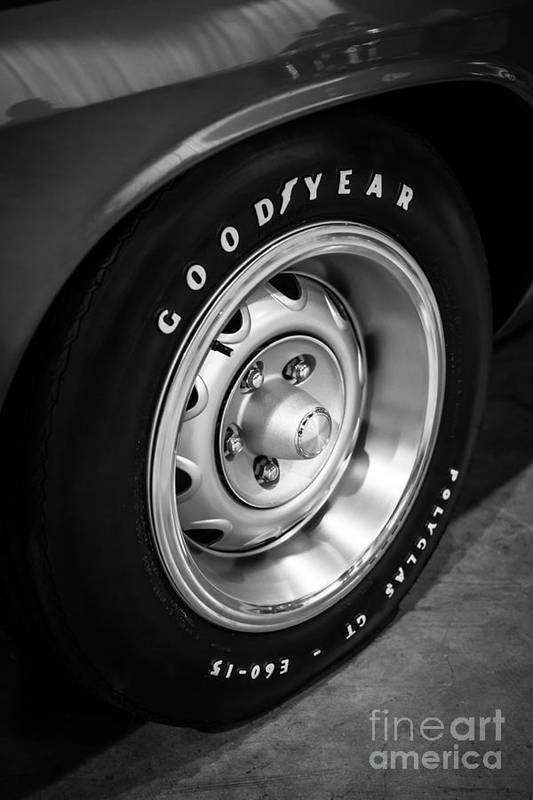 1970 Art Print featuring the photograph Plymouth Cuda Rallye Wheel by Paul Velgos