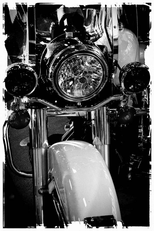 Classic Cycle Art Print featuring the photograph Police Harley II by David Patterson