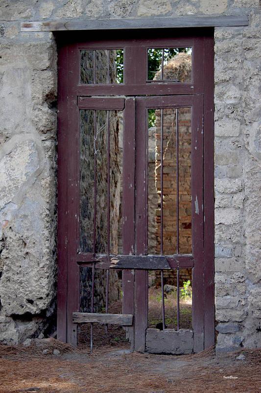 Pompeii Old Door Art Print featuring the photograph Pompeii Old Door by Ivete Basso Photography