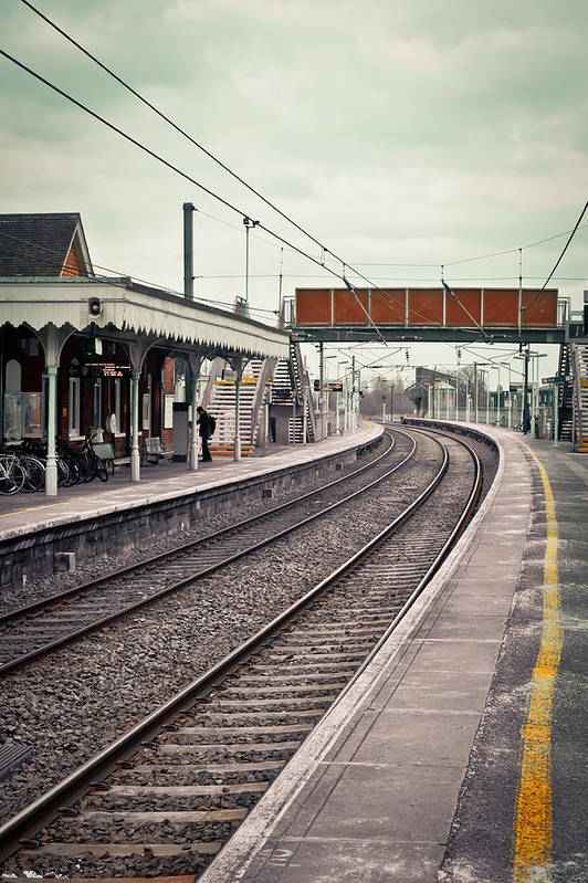 Bleak Art Print featuring the photograph Railway Station by Tom Gowanlock